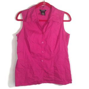 George Stretch Pink Ladies Blouse Sleeveless MD